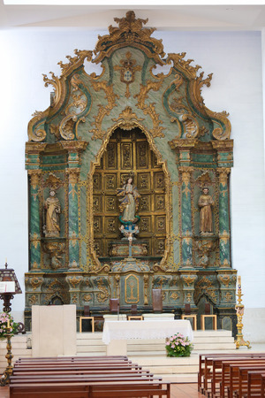 AVEIRO, PORTUGAL - JULY 28, 2016: Altar in the Cathedral of Aveiro in the Centro region, Portugal.