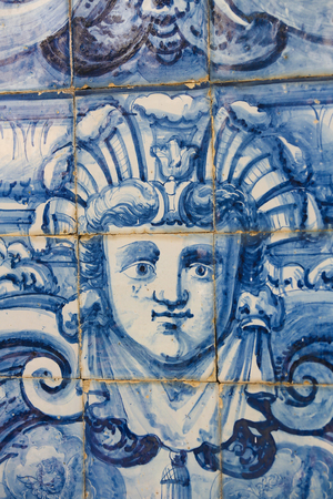 azulejo: Detail of an Azulejo tilework in Coimbra, Portugal