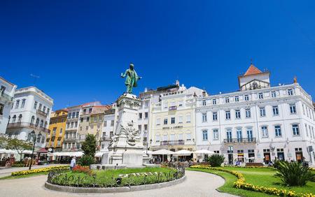 narrator: Joaquim Antonio de Aguiar monument at Largo da Portagem in Coimbra, Portugal. He was a prominent Portuguese politician.