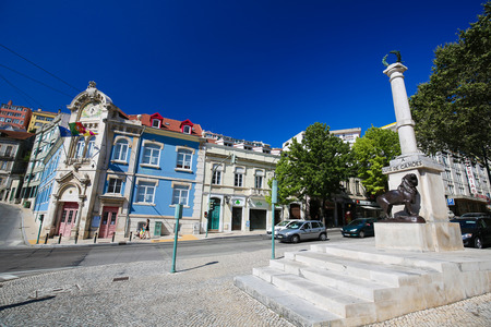 Monument for the National Poet Luis de Camoes in the center of Coimbra, Centro region, Portugal.