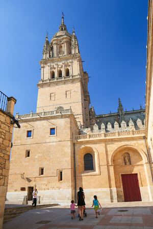 new ages: Tower of the New Cathedral of Salamanca, Spain.