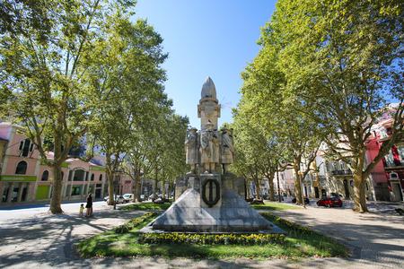 Monument in remembrance of the First World War in the Jardim da Avenida Sa da Bandeira in Santa Cruz, Coimbra, Centro region, Portugal.