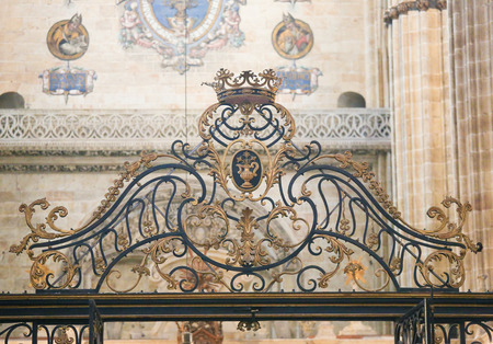 plateresque: Detail of a gate in the New Cathedral of Salamanca, Spain.