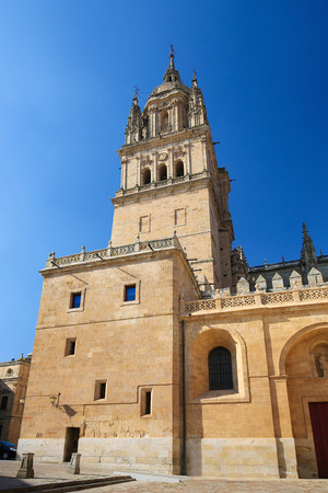 Tower of the New Cathedral of Salamanca, Spain.