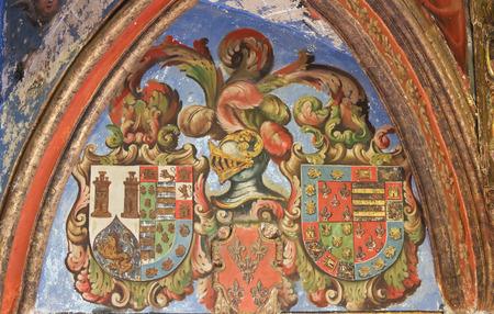 salamanca: Heraldic Coat of Arms in the Cathedral of Salamanca, Spain Editorial