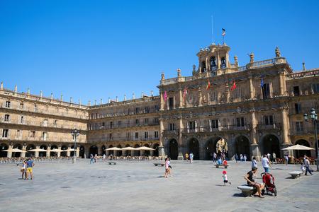 salamanca: The Plaza Mayor (Main Plaza) in Salamanca, Spain