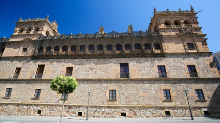 plateresque: Palacio de Monterrey in Salamanca, Spain. This palace is a famous example of the Plateresque architectural style.