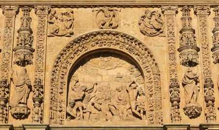 reredos: Martyrdom of Saint Stephen, bas relief on the facade of the Convento de San Esteban in Salamanca, Spain
