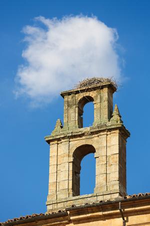 salamanca: Stork Nest on a Church Tower in Salamanca, Spain