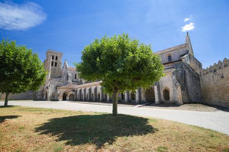 nuns: The Abbey of Santa Maria la Real de Las Huelgas is a monastery of Cistercian nuns located near Burgos in Spain. It is the site of many weddings of royal families. Stock Photo