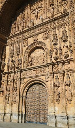 plateresque: Plateresque facade of the 17th Century Convento de San Esteban, a Dominican monastery in Salamanca, Spain.