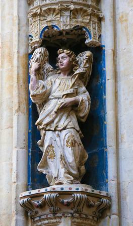 convento: Statue of a baroque angel in the Convento de San Esteban, a Dominican monastery in Salamanca, Spain.