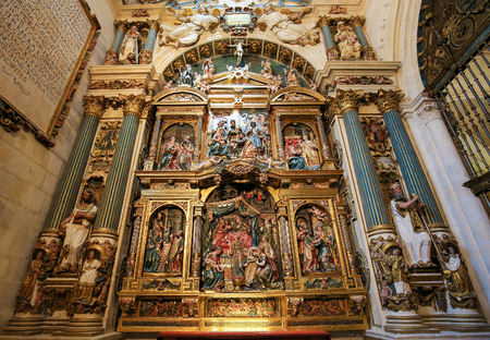 Retable in the Cathedral of Burgos, Castile, Spain. Editorial