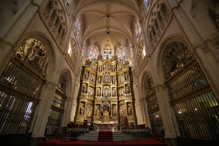 altarpiece: Altarpiece in the Main Chapel of the Cathedral of Burgos, Castile, Spain.
