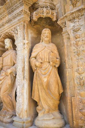 16th Century Principal Gate at the Church of Santo Tomas in Haro, La Rioja, Spain - statue of an apostle