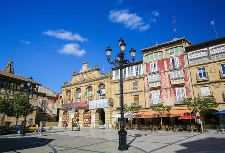 Plaza de la Paz in the center of Haro, Capital of La Rioja wine region, Spain