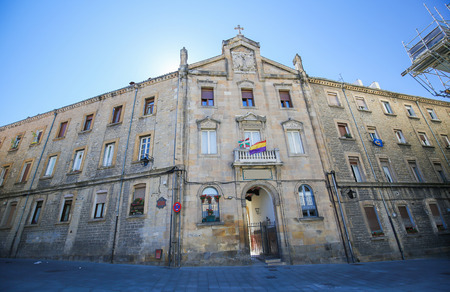 gasteiz: Historic building in the center of Vitoria-Gasteiz, the capital city of the Basque Autonomous Community and of the province of ArabaAlava in northern Spain. Editorial