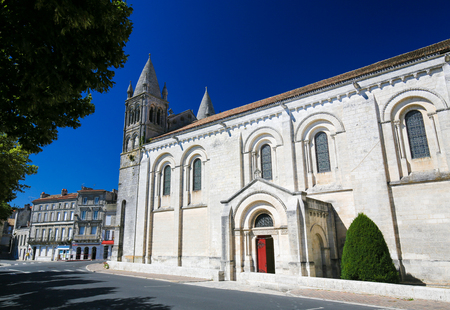Romanesque Cathedral of Angouleme, capital of the Charente department in France.