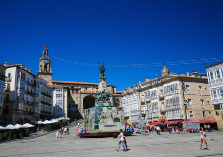 vitoria: Monument commemorating the Battle of Vitoria at Andre Maria ZuriaVirgen Blanca Square of Vitoria-Gasteiz, the capital city of the Basque Autonomous Community and of the province of ArabaAlava in northern Spain.