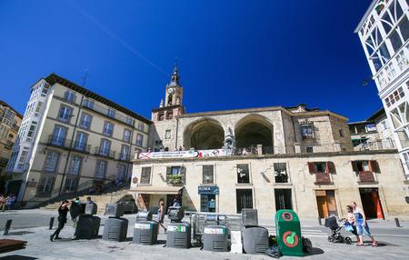 san miguel arcangel: Iglesia de San Miguel Arcángel en Andre Maria Zuria  plaza Virgen Blanca de Vitoria-Gasteiz, la capital de la Comunidad Autónoma del País Vasco en el norte de España. Editorial