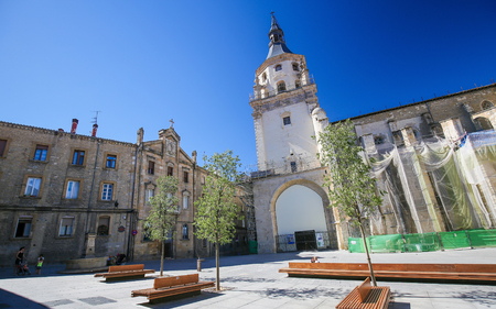 Cathedral of Santa Maria in Vitoria-Gasteiz, the capital city of the Basque Autonomous Community and of the province of ArabaAlava in northern Spain.