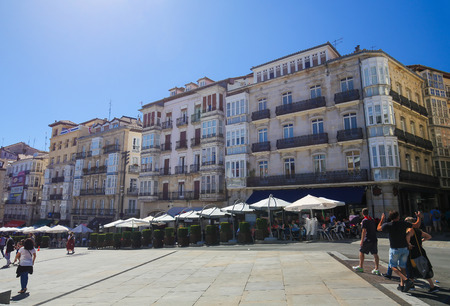 gasteiz: Andre Maria ZuriaVirgen Blanca Square of Vitoria-Gasteiz, the capital city of the Basque Autonomous Community and of the province of ArabaAlava in northern Spain. Editorial