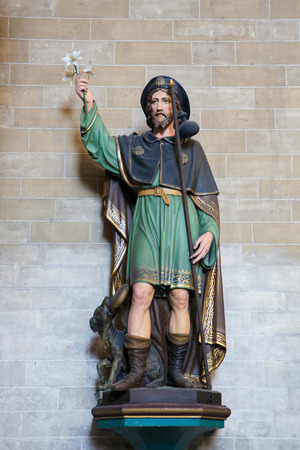 Statue of Saint James the Greater, in the Cathedral of Mechelen, Flanders, Belgium
