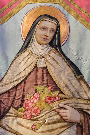 Portrait of Saint Therese of Lisieux, a Roman Catholic French Discalced Carmelite nun widely venerated in modern times.