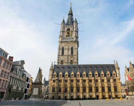 belfry: The 91-metre-tall medieval belfry of Ghent is the tallest belfry tower in Belgium.