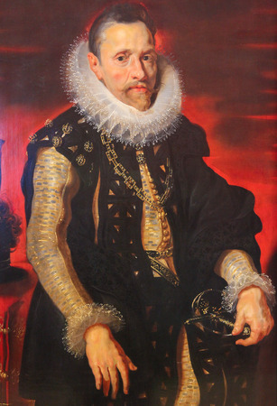 habsburg: Portrait of Albert VII (1559 - 1621), sovereign of the Habsburg Netherlands between 1598 and 1621, by Rubens.