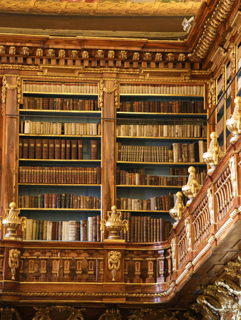 Old books in the Library of Strahov Monastery, Prague, Czech Republic