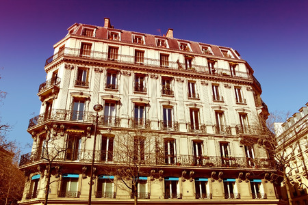 apartment block: Paris Apartment block, in the typical neoclassical style