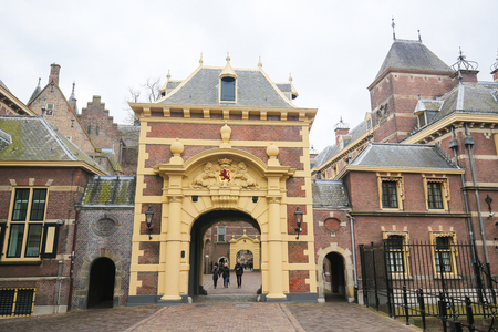 holland: The Hagues Binnenhof with the Hofvijver in the Hague, the Netherlands. Editorial