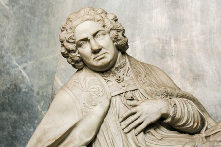 whig: Statue of a 18th Century bishop in the Cathedral of Ghent, Belgium