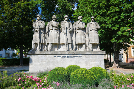 War Memorial of German Soldiers of the Great War in Worms, Rhineland-Palatinate, Germany.
