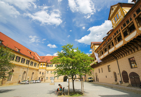 master: Courtyard of the University in Tubingen, Baden Wurttemberg, Germany.