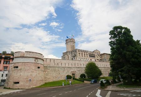 Buonconsiglio Castle in Trento, Trentino, Italy, a famous 13th Century castle in the center of Trento