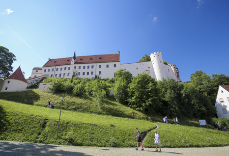 Former St Mang Monastery in Fussen, the southern terminus of the Romantic Road in Bavaria, Germany. Editorial