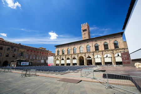 Palazzo del Podesta, a 12th Century building at the Piazza Maggiore in the center of Bologna, Italy.