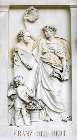 Grave of Franz Schubert in Zentralfriedhof Cemetery in Vienna, Austria 報道画像