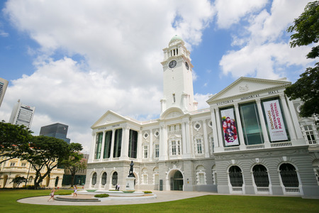 Victoria Theatre and Concert Hall, the former Town Hall built in 1862, in the Central Area of Singapore.