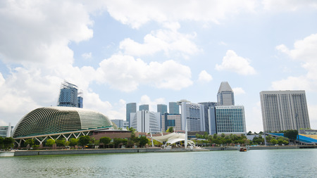 Esplanade – Theatres on the Bay, also known as the Esplanade Theatre or simply The Esplanade, in Marina Bay, Singapore.