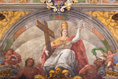 17th Century Fresco in the Church of Saint Nicholas and Saint Peter Martyr in Valencia, Spain