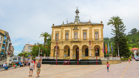 City Hall of Villaviciosa, a town in Asturias, Spain, known as the most important municipality of Asturias in production of cider Standard-Bild - 111811275