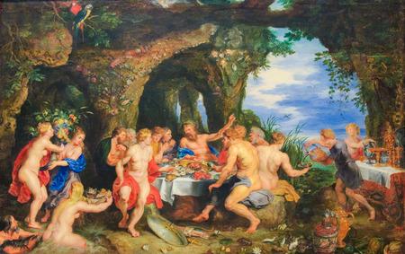 Het feest van Achelo, schilderij van Peter Paul Rubens gemaakt in 1615. Redactioneel