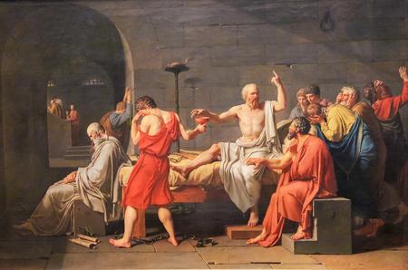 La morte di Socrate (in francese: La Mort de Socrate) è un olio su tela dipinto dal pittore francese Jacques-Louis David nel 1787.