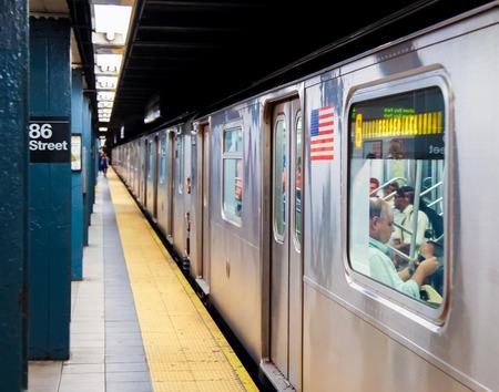 New York City Subway at 86th Street in New York City Standard-Bild - 111812271