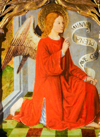 Painting of the Archangel Raphael on the Altarpiece of St Nicolas (1500) in the Cathedral of Monaco