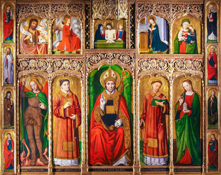 Altarpiece of St Nicolas (1500) in the Cathedral of Monaco