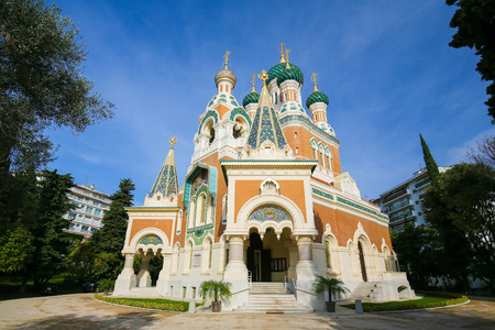The Russian Orthodox Cathedral of St Nicholas in Nice, France, the largest Eastern Orthodox Cathedral in Western Europe.